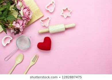 Table Top View Aerial Image Of Decoration Valentine S Day