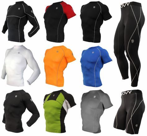 Mens COOVY Compression Wear Under Base Layer Top Tight Short Sleeve T-Shirts