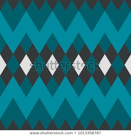 Abstract Geometric Blue Diamond Seamless Pattern Wallpaper
