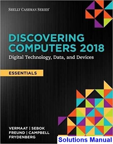 Discovering Computers Essentials 2018 Digital Technology
