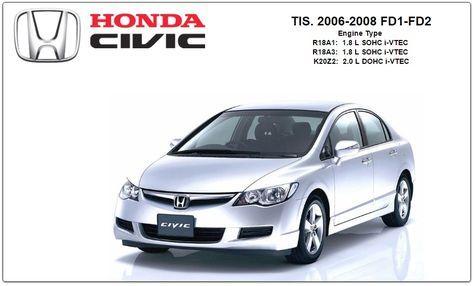 Repair Service Manual Tis Id 20090 Honda Civic Civic Honda