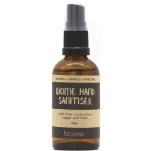 Biome Hand Sanitiser 50ml Hand Sanitizer Bottle Essential Oil