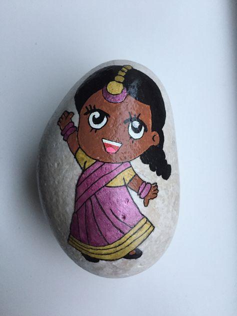 paint #Indian #Girl #Sari...