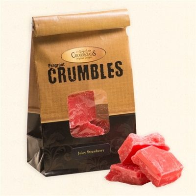 Crossroads Original Designs Crumble Wax Melts ~ Crossroads Original Designs Crumble Wax Melts. These six ounce bags of scented wax crumble melts are a high quality blend of premium wax. They are perfect for any wax warmer, especially ceramic and plug in ones. Available in 20 fragrances.