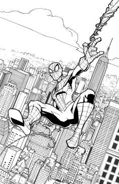 Image Result For Spiderman City Backdrop Lineart Work References Coloring Pages For Girls Amazing Spider Spiderman