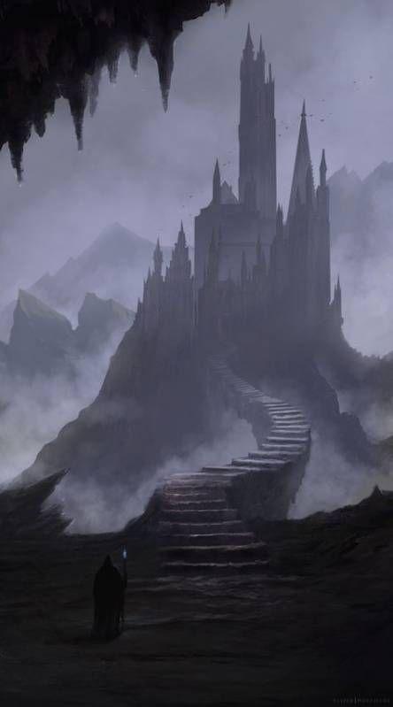 Gothic Fantasy Art Concept Art in 2020 Fantasy landscape Fantasy castle Gothic fantasy art