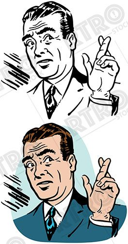 Fingers Crossed Stock Illustrations, Cliparts And Royalty Free Fingers  Crossed Vectors