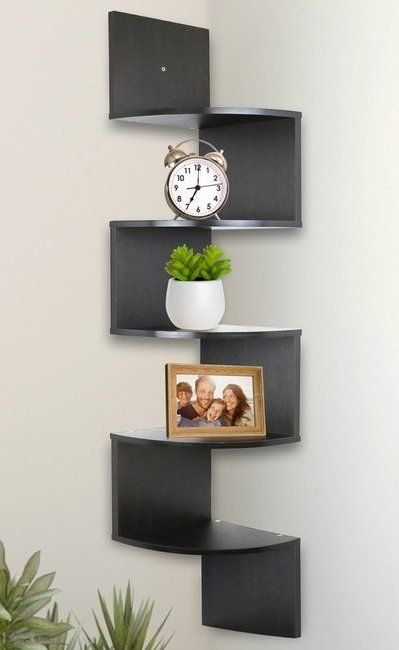 25 Home Decor Items From Amazon You Should Already Own Wall Mounted Corner Shelves Corner Wall Shelves Decorating Shelves