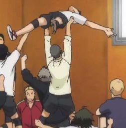 "makochantachibanana: "" butter-eating-penguin: "" Friendship goals: Tanaka and Noya's broship "" i've never seen a bromance so strong in my entire trash life "" Manga Haikyuu, Haikyuu Karasuno, Haikyuu Funny, Nishinoya, Haikyuu Fanart, Kageyama, Me Anime, Girls Anime, Anime Guys"