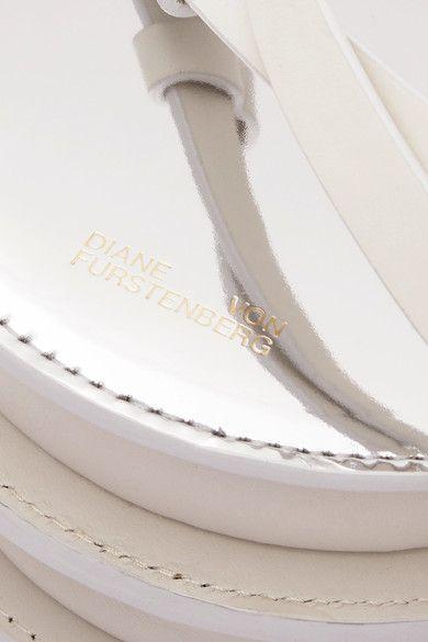 Cercle En Miroir Et Pochette En Cuir Lisse - Argent Von Frstenberg Diane RX182INfBq