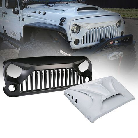 Xprite Beast Series Fiber Glass Hood And Grille Combo For 07 17 Jeep Wrangler Jeep Wrangler Accessories Custom Jeep Wrangler Jeep Wrangler