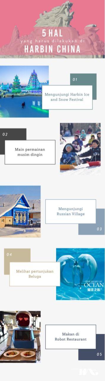 5 Hal Yang Harus Dilakukan Di Harbin China 1 Mengunjungi Harbin Ice And Snow Festival 2 Main Permainan Musim Dingin 3 Melihat P Travel Tips Travel Shopping
