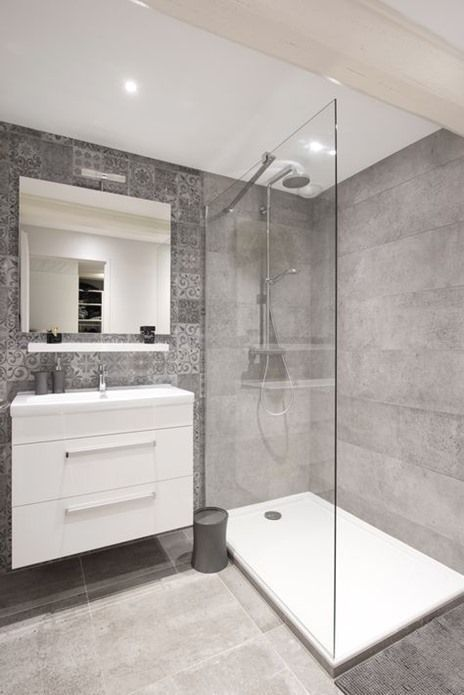 Remodeling Bathroom Stand Up Shower With Images Modern