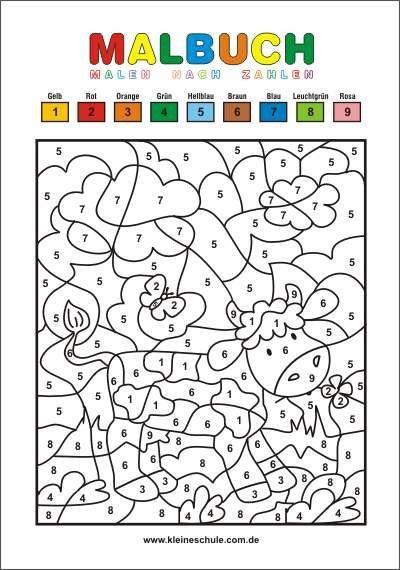 Malvorlagen für Kinder   Malen nach Zahlen   Kostenlos ...