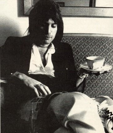 Freddie Mercury drinking #tea. What's you favorite Queen song?