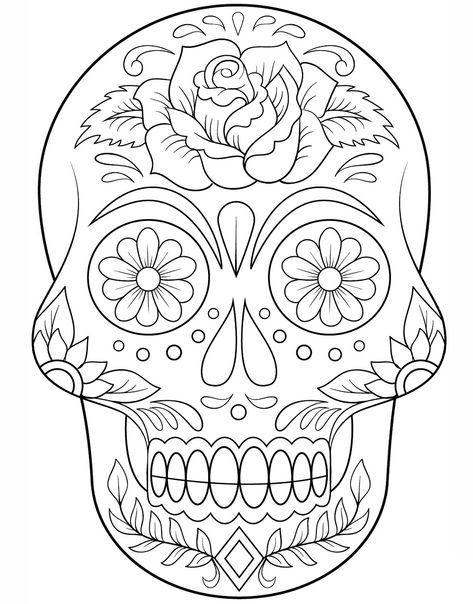 Colección De 20 Plantillas De Catrinas Para Colorear Listas Para Descargar Enc Mandalas De Calaveras Calaveras Para Colorear Calaveras Mexicanas Para Colorear