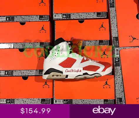 c842b2be3533 SHIP NOW Nike Air Jordan 6 VI Gatorade Like Mike 4Y-13 White Orange 384664- 145