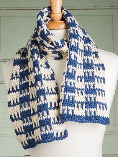 Free Crochet Pattern Download This Checkerboard Squares Scarf