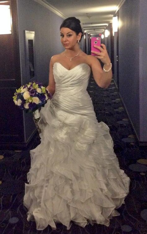 wedding gown selfie