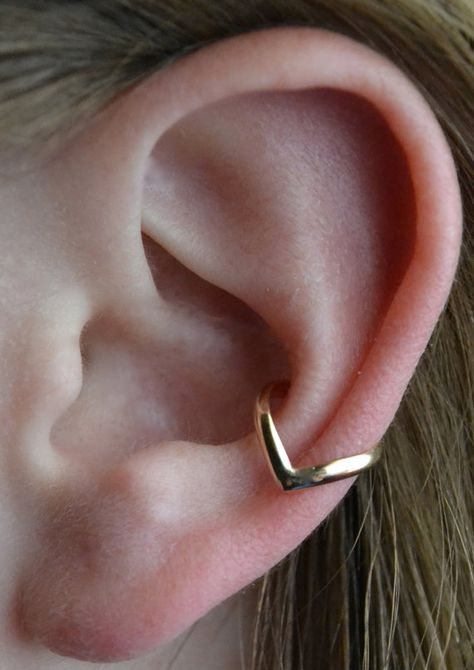Chevron Ear Cuff - en argent ou or 14K rempli - SINGLE SIDE