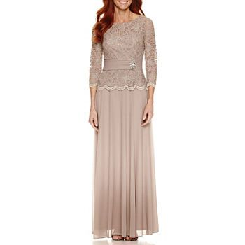 Women S Dresses Dresses For Every Occasion Jcpenney Evening Gowns With Sleeves Evening Gowns Three Quarter Length Sleeve Dress