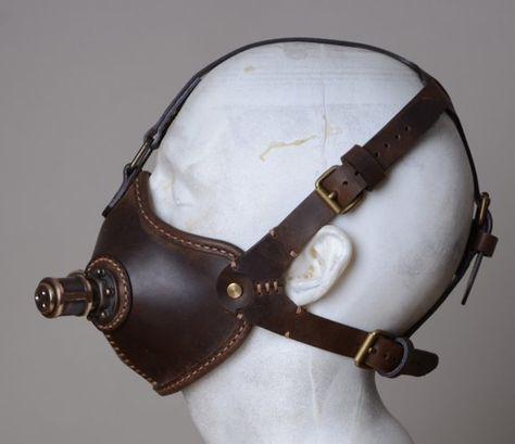 Steampunk Mask Burning Man Leather Mask Gas Mask | Etsy