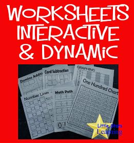 Dynamic And Interactive Math Worksheets Preschool Early Elementary Ninos