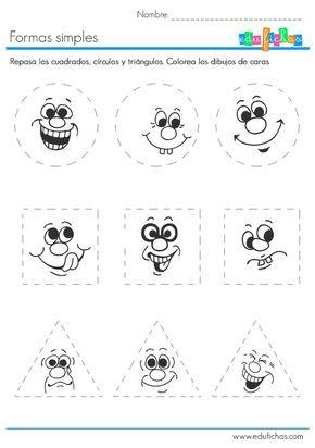 Ficha Infantil Para 3 Y 4 Anos Aprender A Dibujar Formas Geometricas Ninos De Preescolar Figuras Geometricas Para Preescolar Actividades Para Ninos De 3 Anos