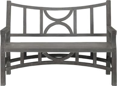 Sensational Bench Currey Amp Company Colesden Dark Gray Concrete Iron Bralicious Painted Fabric Chair Ideas Braliciousco