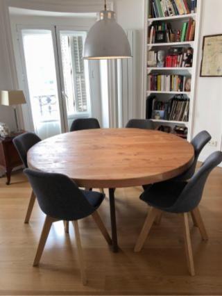Mesa redonda diseño industrial Cousinmobiliario tlf ...