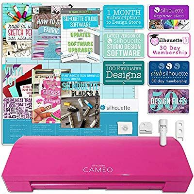 Amazon Com Silhouette America Cameo 3 Pink Edition With Bluetooth Auto Adjusting Blade Vinyl Trimmer 12x12 Mat 100 Des Silhouette Cameo Oracal Vinyl Cameo