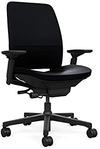 New Steelcase Amia Ergonomic Office Chair Adjustable Back Tension Arms Flexible Lumbar Sliding Seat Black Leather Online In 2020 Ergonomic Office Chair Leather Furniture Liberty Furniture