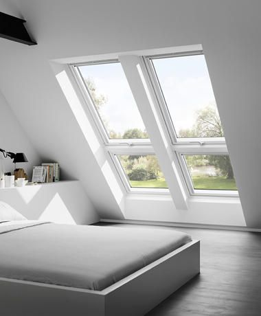 modern and laconic seating area by the attic window Make room - schlafzimmerschrank nach maß