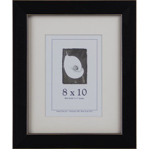 Clean Cut Picture Frame 8 Inches X 10 Inches Black Frame Usa