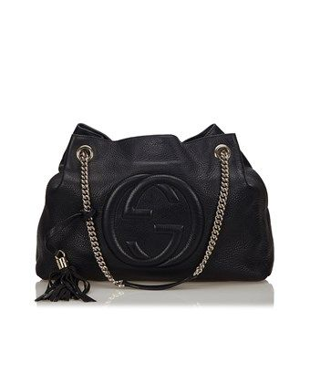74dbd67e2 GUCCI PRE-OWNED: SOHO LEATHER CHAIN SHOULDER BAG. #gucci #bags #shoulder  bags #leather # | BLACK BAG | Gucci, Gucci soho disco, Chain shoulder bag