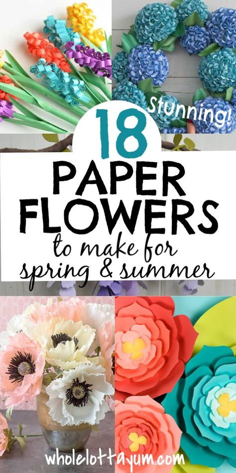 For Adults 18 stunning paper flowers that make the best DIY easy crafts when learning how to make paper flower projects. The tutorials include giant flowers, tropical flowers, tissue paper, cricut and more that are perfect crafts for adults and teens. Giant Paper Flowers, Paper Roses, Diy Flowers, Tissue Paper Flower Diy, Tissue Paper Flowers Easy, Tissue Paper Ball, Lilies Flowers, Paper Flowers Craft, Flowers Garden