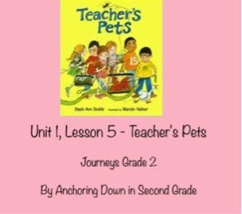 Journeys Unit 1, Lesson 5 Teacher's Pets Smartboard Interactive