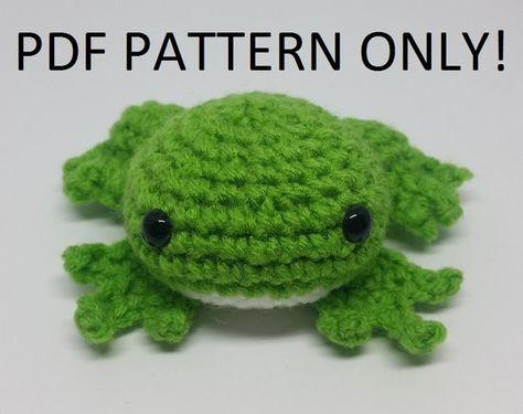 Frog Amigurumi Crochet Pattern (PDF Download)