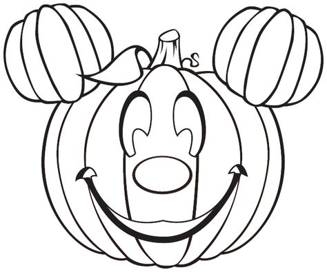 Mickey Mouse Pumpkin - Free Disney Halloween Coloring Pages Halloween Coloring Pages Printable, Free Halloween Coloring Pages, Pumpkin Coloring Pages, Disney Coloring Pages, Free Printable Coloring Pages, Coloring Pages For Kids, Coloring Books, Free Halloween Printables, Halloween Coloring Pictures