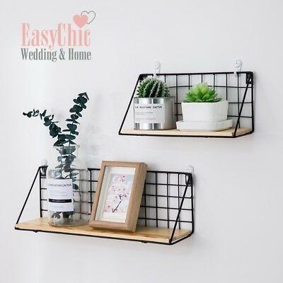 Nordic Wall Hanging Decor Flower Plant Storage Floating Shelf Shop Home Decor