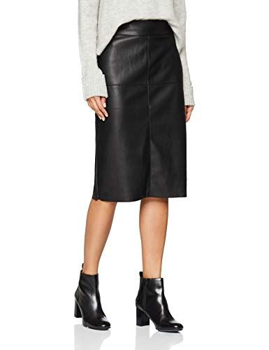 lowest price 2b14d 04499 Dorothy Perkins Damen Rock Pu Midi Skirt Schwarz (Black) 34 ...