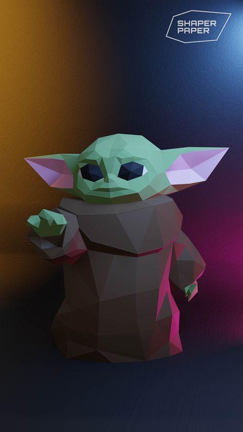 Papercraft Baby Yoda Star Wars Template Paper Crafts Paper Sculpture 3d Paper Art