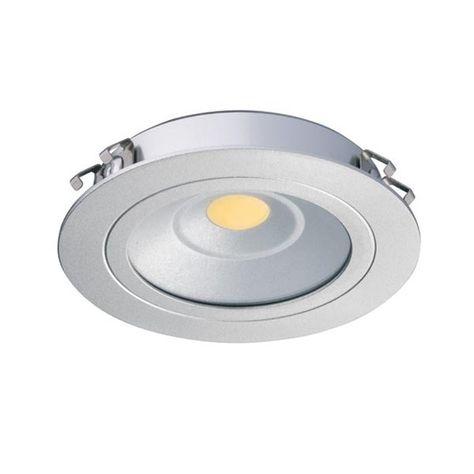 Hafele Loox 24v Recess Mount Led Warm White Silver Finish 833 75 040 Hafele Downlights Led Cabinet Lighting