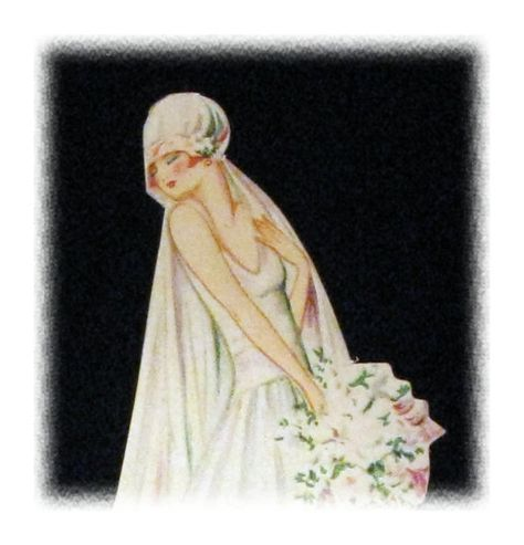 Vintage Place Card Deco Wedding Bride by MotleyFindings on Etsy, $6.00