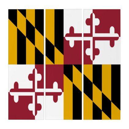 Maryland Flag Triptych Zazzle Com Flag Flag Design Visit Maryland