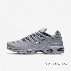 Men Nike Air Max Plus Wolf GreyBlackWhite 852630 021