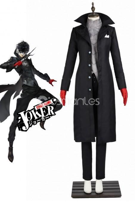Hot Shin Megami Tensei Persona 5 Joker Cosplay Shoes Boots//l