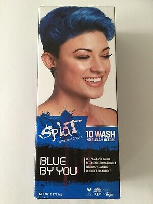 Ad Splat 10 Wash Blue By You No Bleach Hair Dye 6 Fl Oz Free