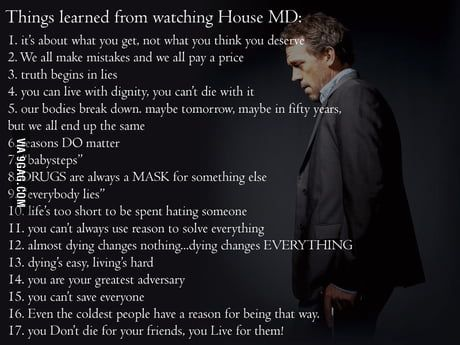 Lessons From House Md House Md Quotes Dr House Quotes House Md Funny