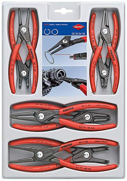 Knipex Tools 00 20 04 Sb Precision Circlip Snap Ring Pliers 8 Piece Set Review Best Hand Tools Tools Pliers